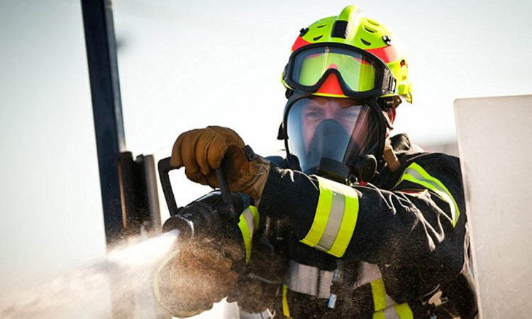 Aerodrome Firefighters Breathing Apparatus Wearer